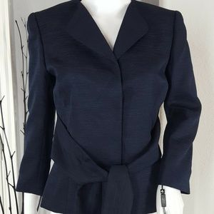 Tahari Arthur Levine NEW Navy Blue Blazer Jacket 4